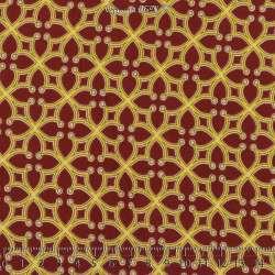 Tissu Microfibre Élasthanne Imprimé Rosace Fond Auburn