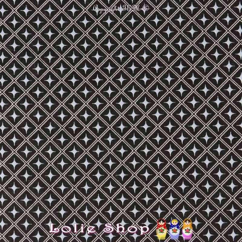 Satin de Coton Imprimé Motifs Losange incrusté Étoiles