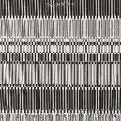 Satin de Coton Imprimé Motifs Graphiques Rectangles Noirs et Blanc