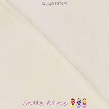 Jersey Viscose Uni Couleur Blanc