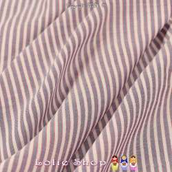 Tissu Voile Viscose Imprimé Fines Marnière Fond Blanc