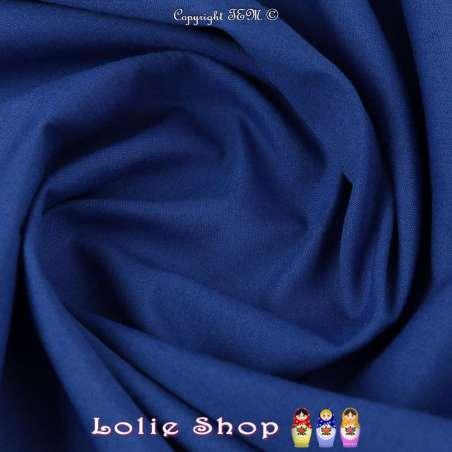 Popeline Polycoton Oeko Tex Couleur Bleu