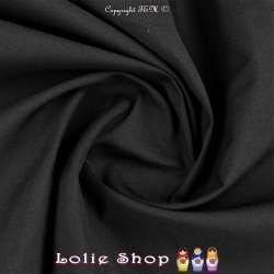 Popeline Polycoton Oeko Tex Couleur Noir