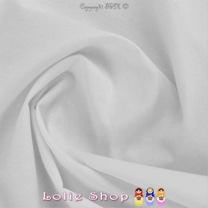 Popeline Polycoton Oeko Tex Couleur Blanc