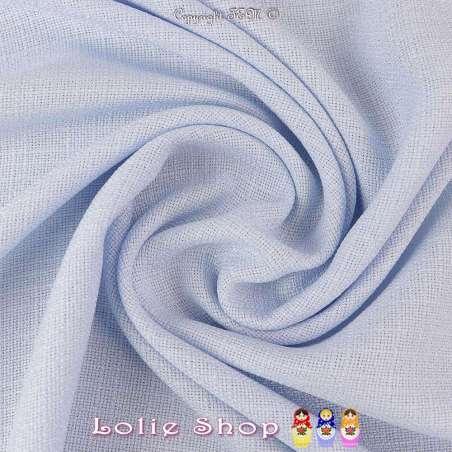 Tissu Toile Natté Couleur Bleu Ciel Façon Lin