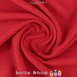 Tissu Toile Natté Couleur Rouge Façon Lin