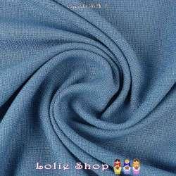 Toile Natté Couleur Bleu Indigo Façon Lin