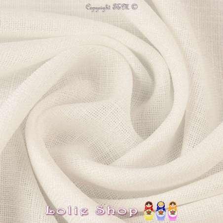 Tissu Toile Natté Couleur Blanc Façon Lin