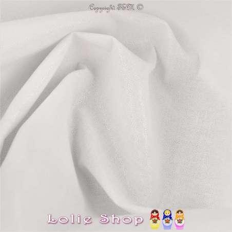 Toile Coton Enduite Couleur Blanche - Fabriqué en France