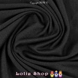 Jersey Viscose Uni Couleur Noir