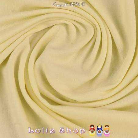 Jersey Viscose Uni Couleur Crème