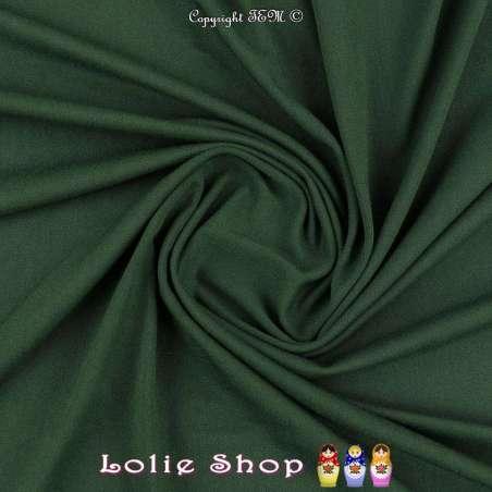 Jersey Viscose Uni Couleur Vert Bouteille