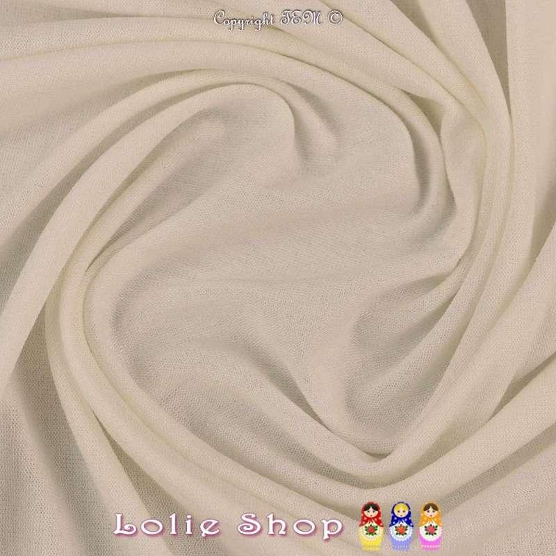 Jersey Viscose Uni Couleur Blanc Cassé