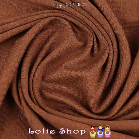 Jersey Viscose Uni Couleur Camel