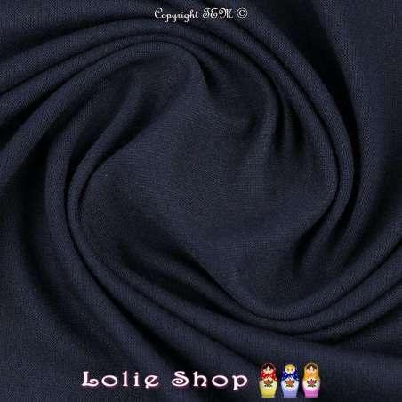 Jersey Viscose Uni Couleur Bleu Nuit
