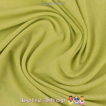 Jersey Viscose Uni Couleur Vert Anis