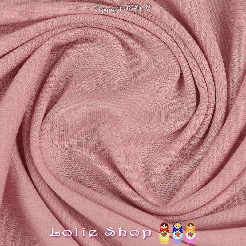 Jersey Viscose Uni Couleur Rose Pale