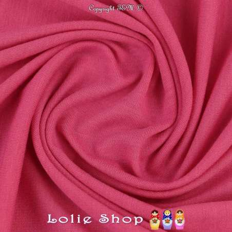 Jersey Viscose Uni Couleur Rose Fuchsia