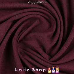 Jersey Viscose Uni Couleur Prune