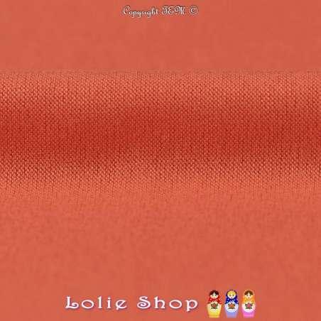 Jersey Viscose Uni Couleur Corail