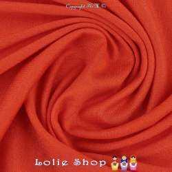 Jersey Viscose Uni Couleur Orange