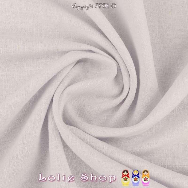 Tissu Lin Lavé Couleur Blanc Optique