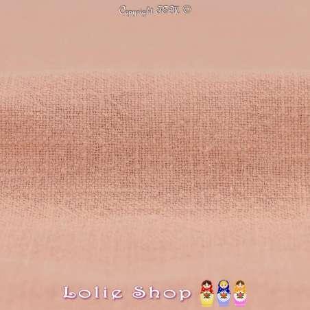 Tissu Lin Lavé Couleur Saumon