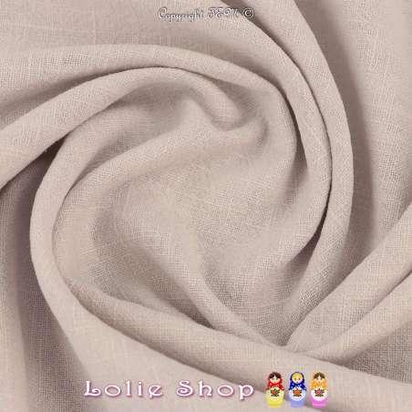 Tissu Lin Lavé Couleur Argent