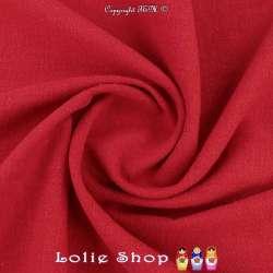Tissu Lin Lavé Couleur Rouge