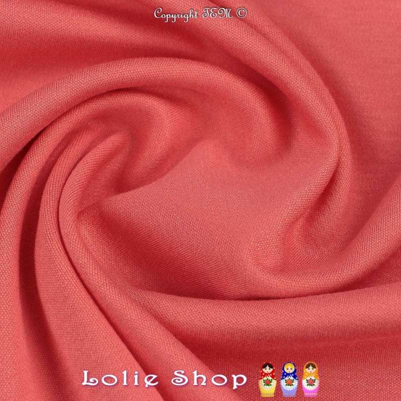 Maille Jersey Milano Uni Face Corail