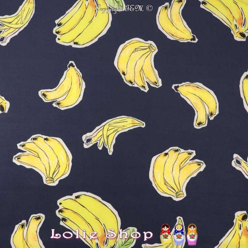 Tissu Microfibre Élasthanne Imprimé Grappes de Bananes