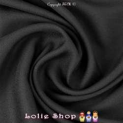 Crêpe Viscose Uni Couleur Noir
