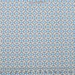 Coton Imprimé Petites Formes Graphique Bleu Ciel - Photo 15x15 Cm
