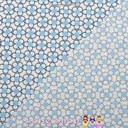 Coton Imprimé Petites Formes Graphique Bleu Ciel