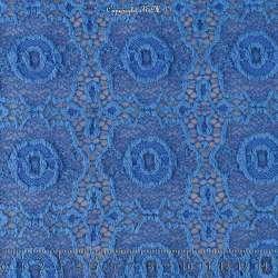 Dentelle Modèle ARABESQUE Motif Géométrique Couleur Bleu
