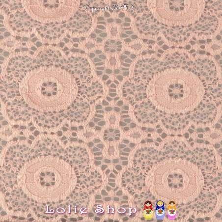 Dentelle Modèle ARABESQUE Motif Géométrique Couleur Rose