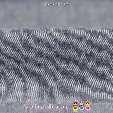 Coton Chambray Couleur Denim à Base Brodé Modèle B