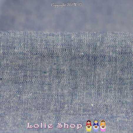 Coton Chambray Couleur Denim à Base Brodé Modèle A