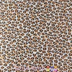 Satin soyeux Haut de Gamme Imprimé Taches Leopard Effet Léopard