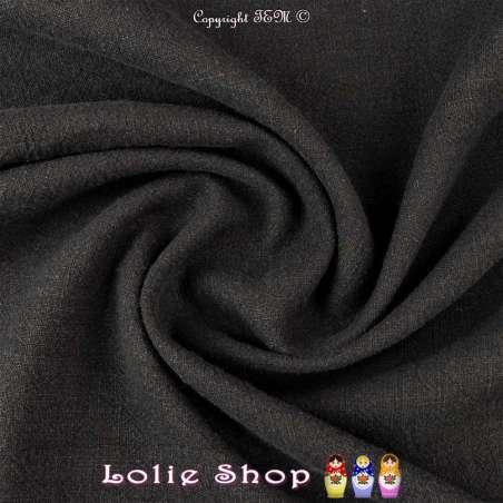 Tissu Lin Lavé Couleur Noir