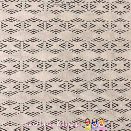 tissus-Jacquard Maille Motif Géométrique