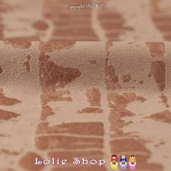 Tissu Suédine Effet Texture Peau de Croco Couleur Terre de Sienne