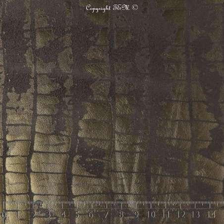 Tissu Suédine Effet Texture Peau de Croco Couleur Noir