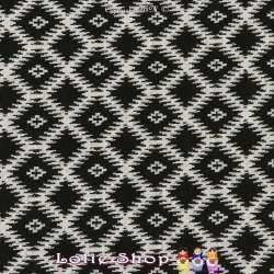 Jacquard Maille Quadrillé Losanges Couleur Noir & Blanc
