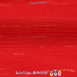 Crépon Viscose Lurex Argent Uni Couleur Rouge