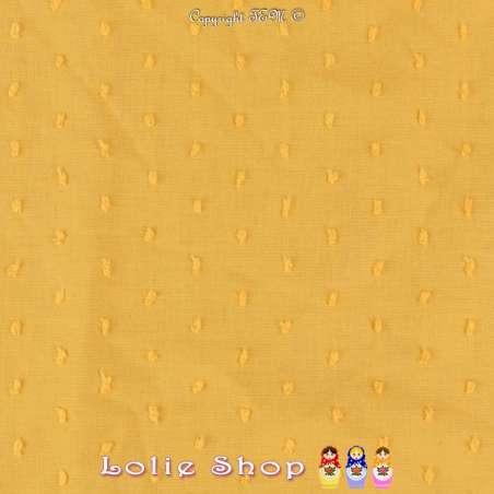 Plumetis De Coton Couleur Jaune