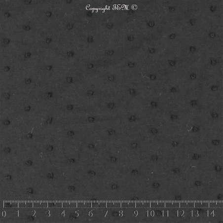 Plumetis De Coton Couleur Noir