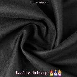 Pure Laine CABAN Uni Couleur Noir