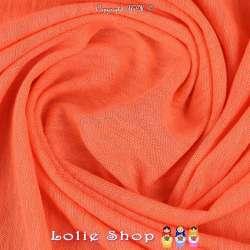 Coupon Jersey Coton Flammé Couleur Corail