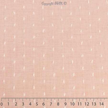Plumetis De Coton Couleur Rose - Photo 15x15 Cm